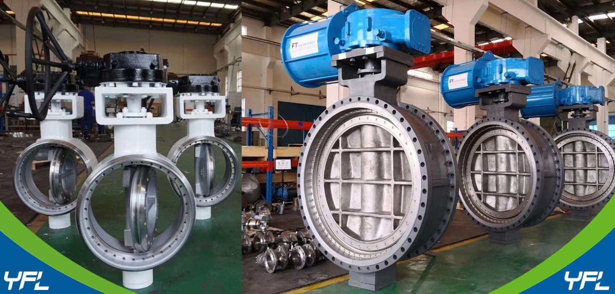 large size metal to metal seal butterfly valves