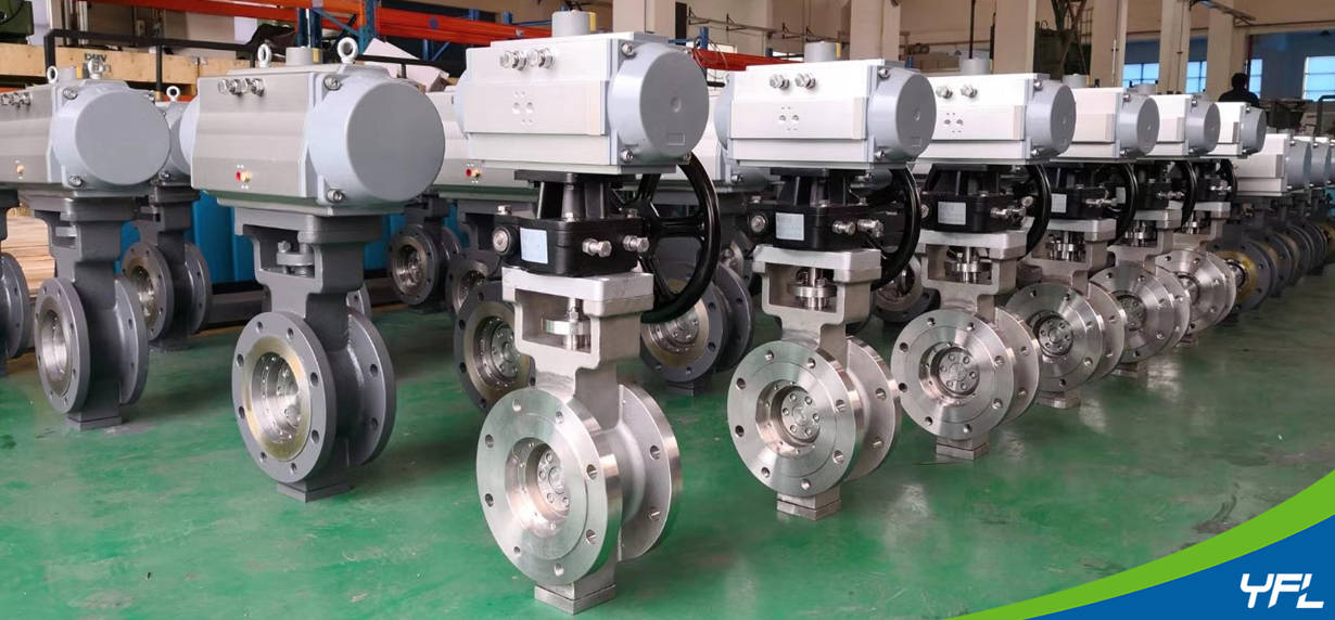 Pneumatic metal seated butterfly valves