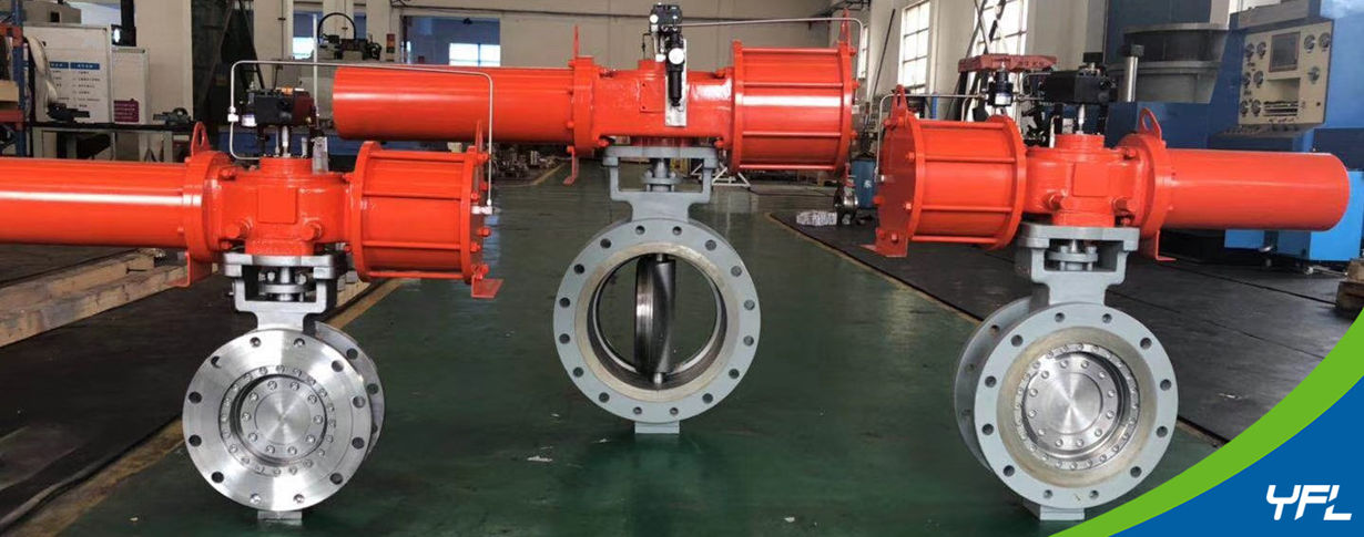 pneumatic fully metal seal butterfly valves