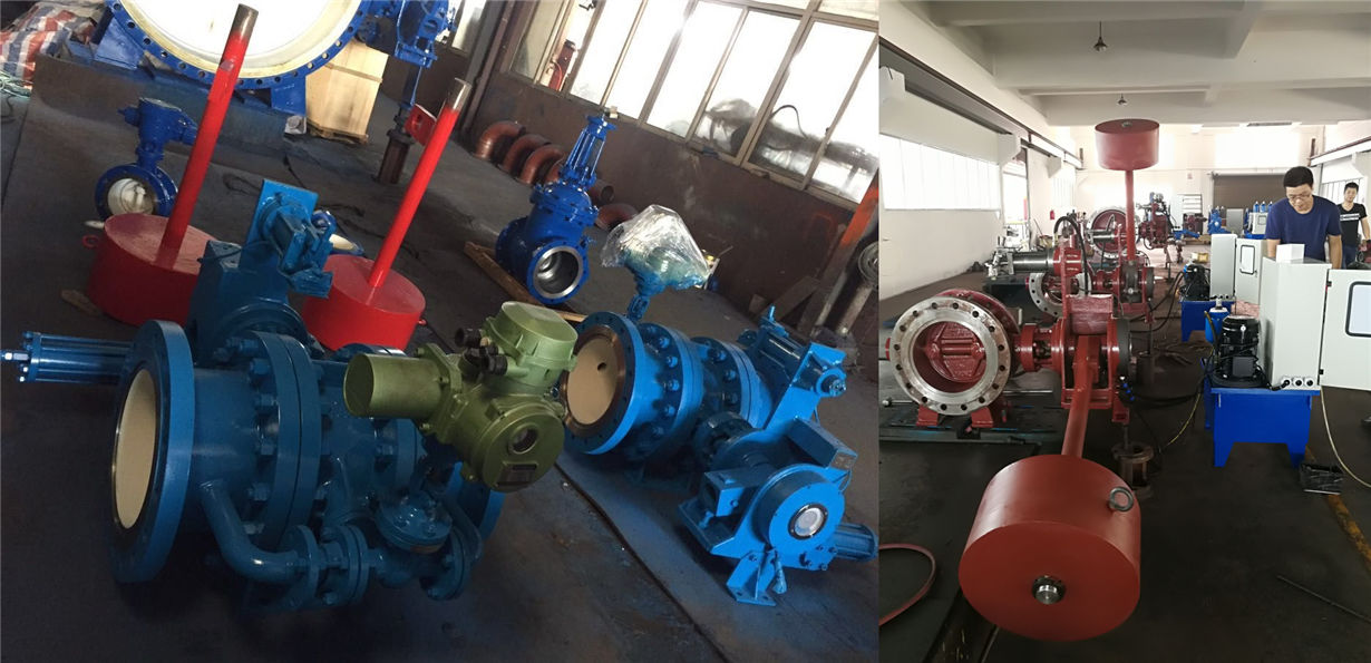 hydraulic slow closing butterfly valves with counter weight
