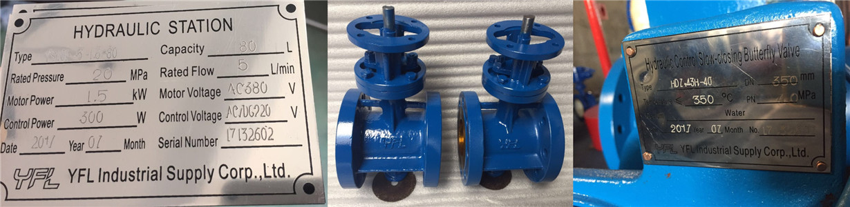 hydraulic slow closing butterfly check valves
