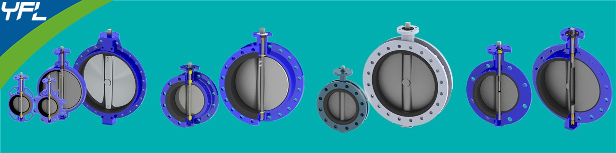 wafer butterfly valves, double flange butterfly valves, U type flange butterfly valves, Hub ends butterfly valves