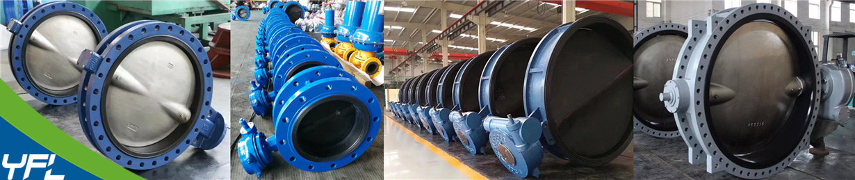 Large size rubber lined butterfly valves for seawater desalination