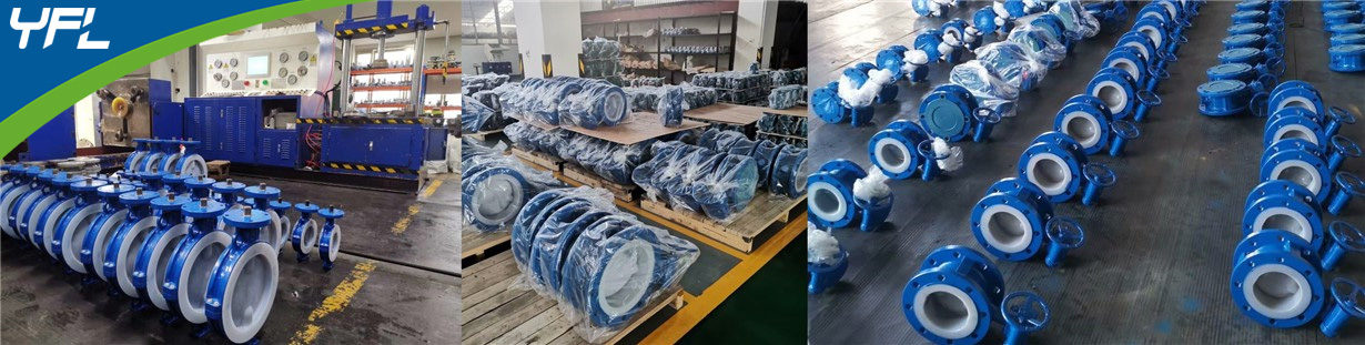 FEP/PFA wafer butterfly valves, FEP/PFA flanged butterfly valves