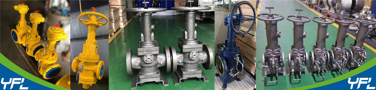 Rising stem plug valves for aviation kerosene