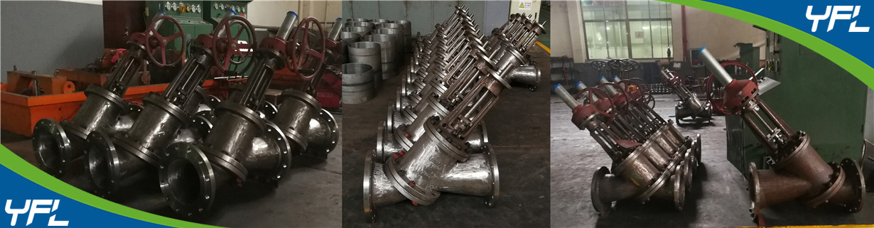 Y type slurry valves for Alumina, Y type globe valves for aluminum oxide