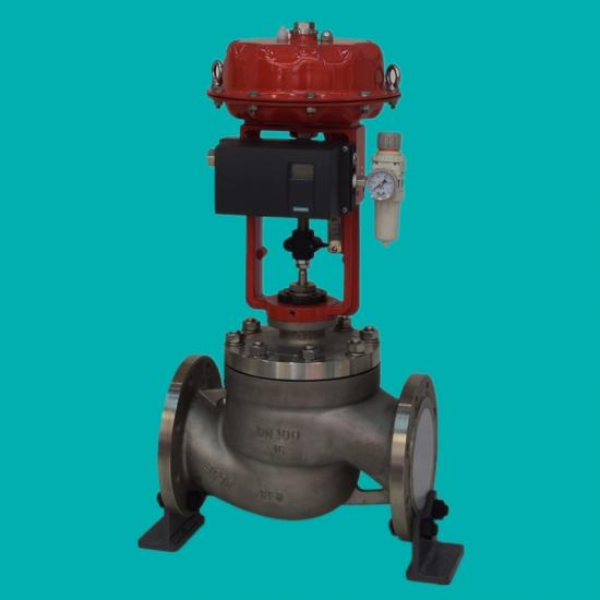 Pneumatic single seat control valves