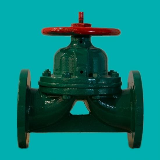 Rubber lined diaphragm valves