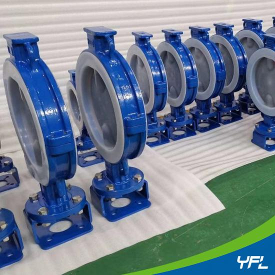 PFA lined wafer butterfly valves