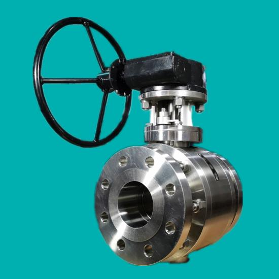 Solid tungsten carbide ball valves