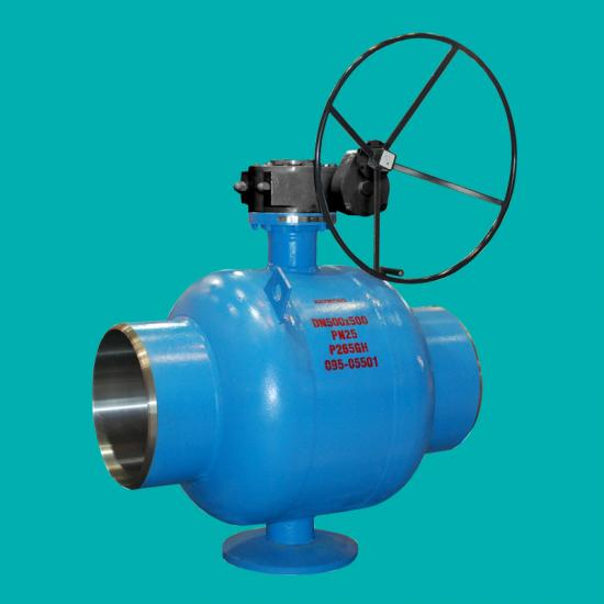 District heating fully welded ball valves