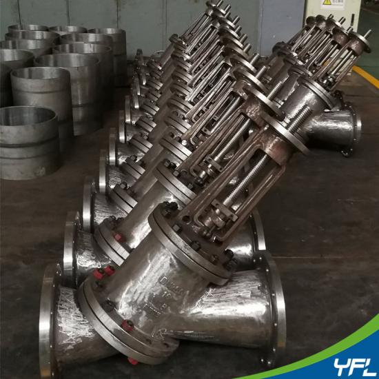 Y type slurry valves for Alumina