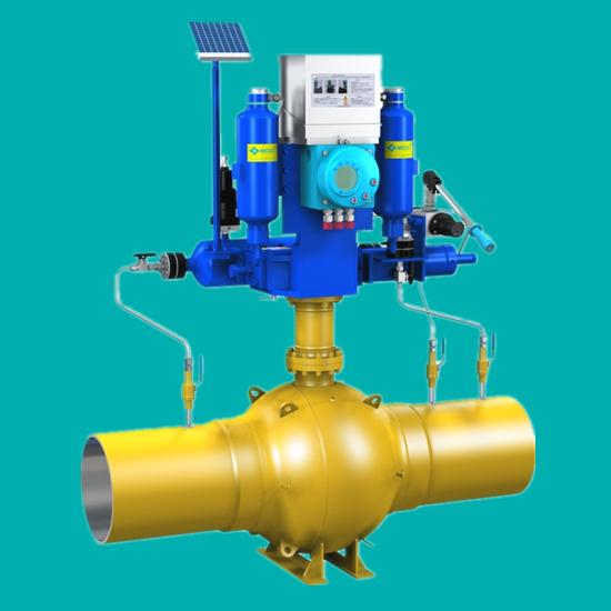 Pneumatic-hydraulic gas over oil actuator
